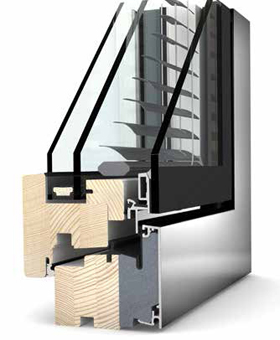 Internorm HV 350 TIMBER/ALU/BLIND windows profile