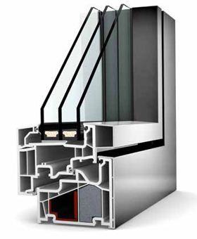Internorm KF 410 UPVC/ALUMINIUM - Window Profile