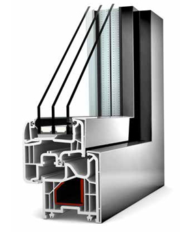 Home Soft KF 200 UPVC/ALUMINIUM - Window Profile