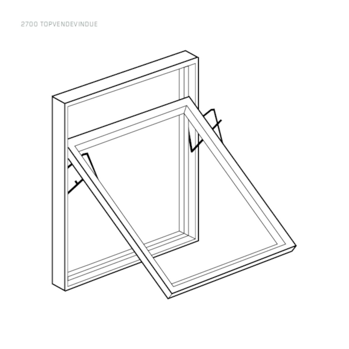 Rationel Top Swing window drawing