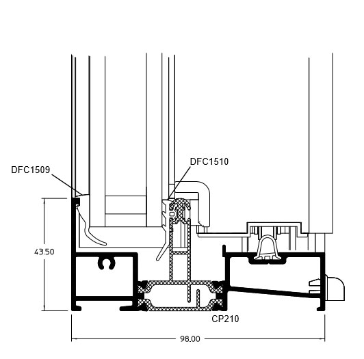 Fixed Cill technical drawing