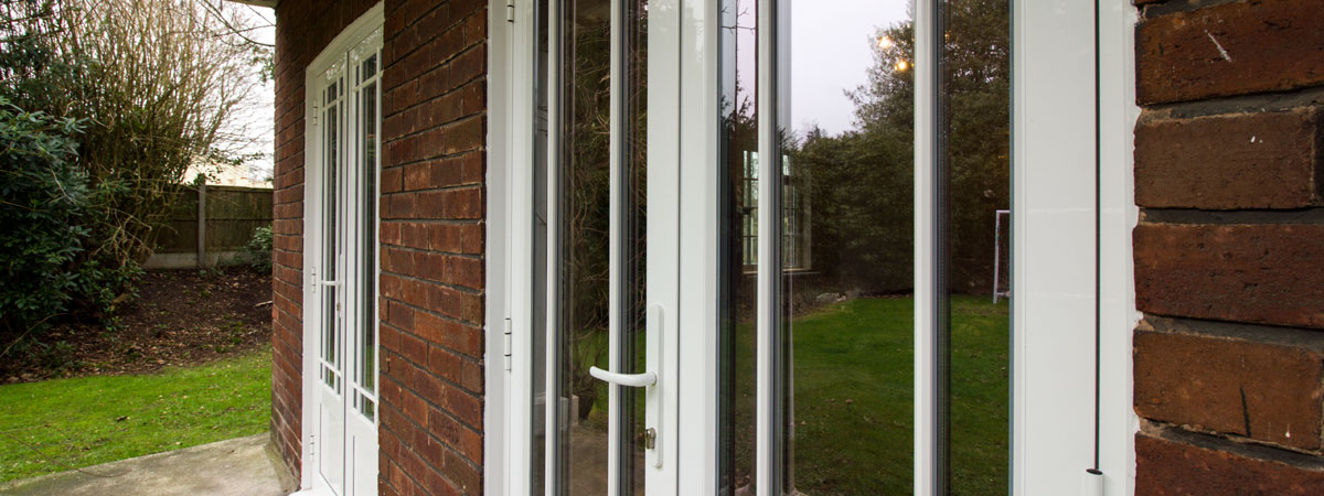Installation of traditional aluminium windows and doors in the historic property.
