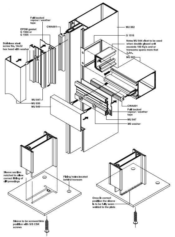 Ams Aluminium Curtain Walling