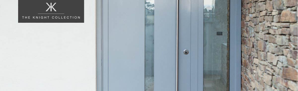 Aluminium entrance doors.