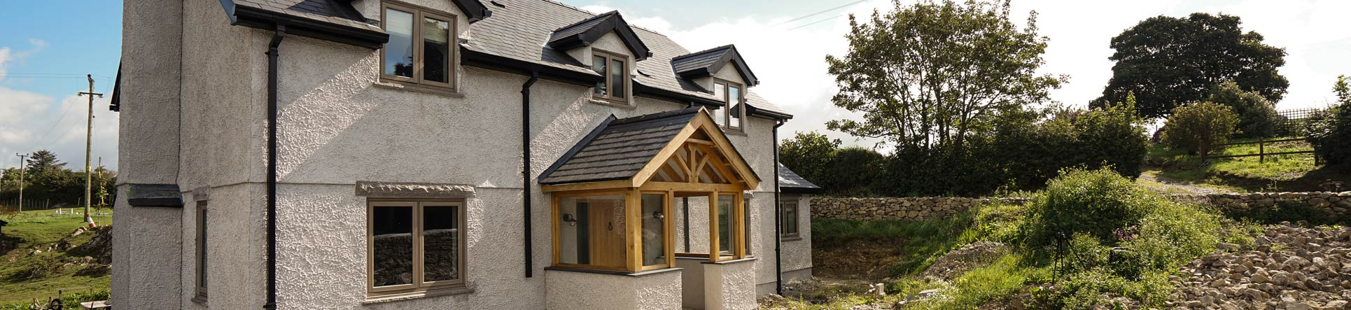 Residence 9 window installation, Anglesey
