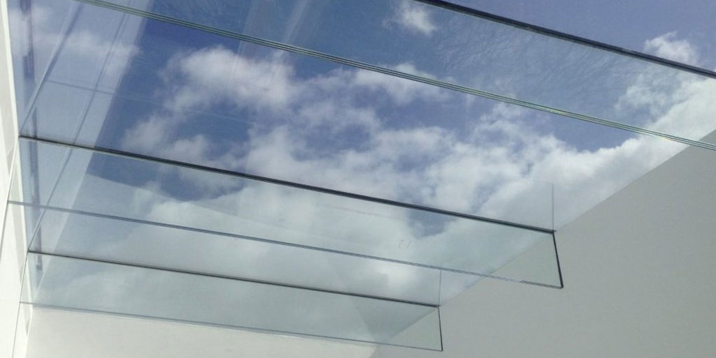 All Glass Flat Roof Light