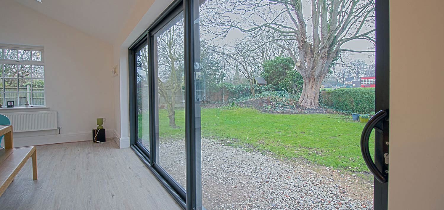 Aluminium sliding doors | John Knight Glass | Heswall, UK