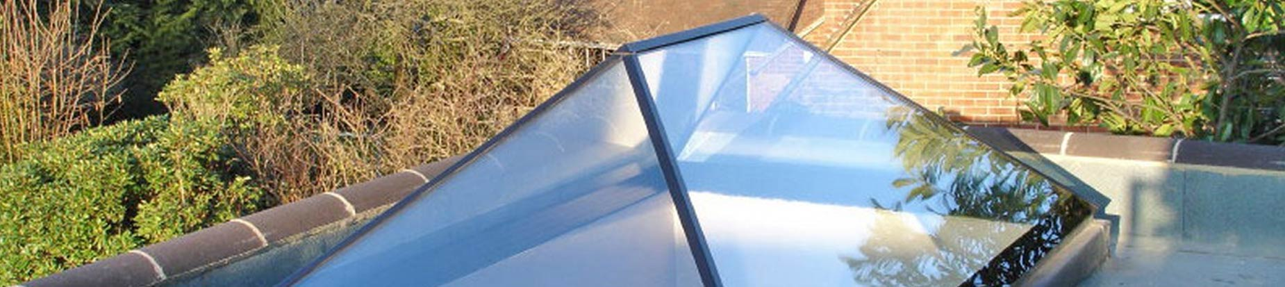 Installation of a large all glass roof lantern