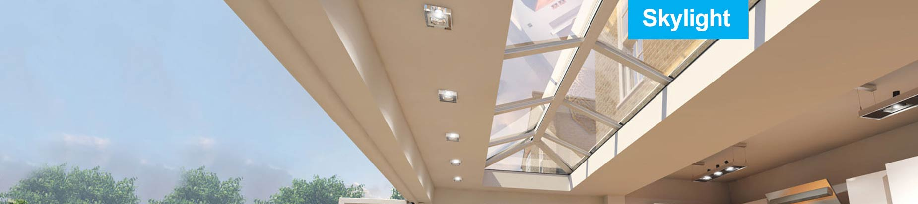 UPVC Roof lantern in white on white with double glazing.