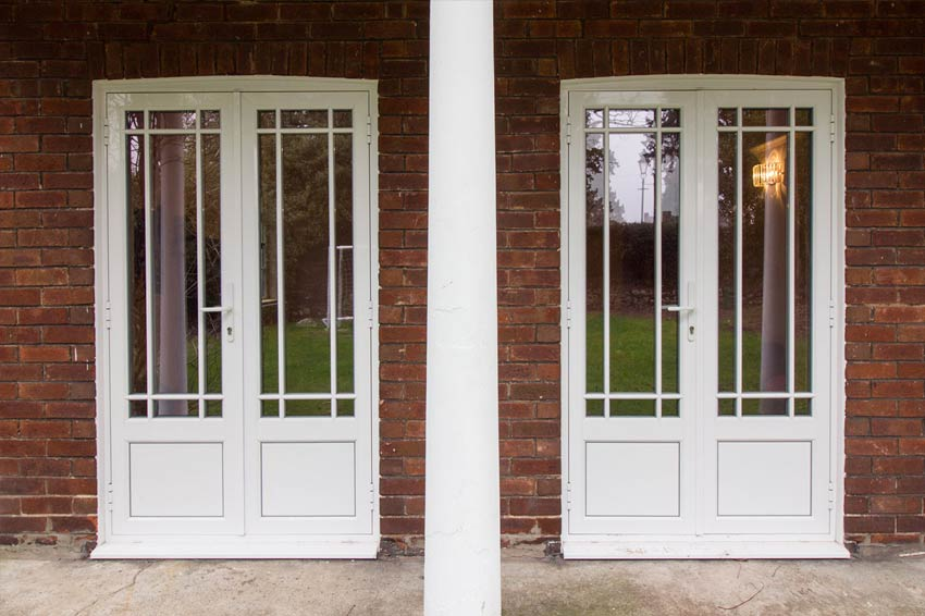 Aluminium french doors.