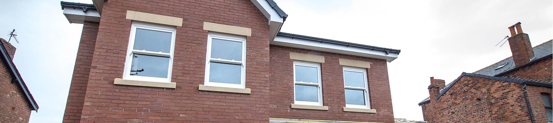 Installation of UPVC sash windows.
