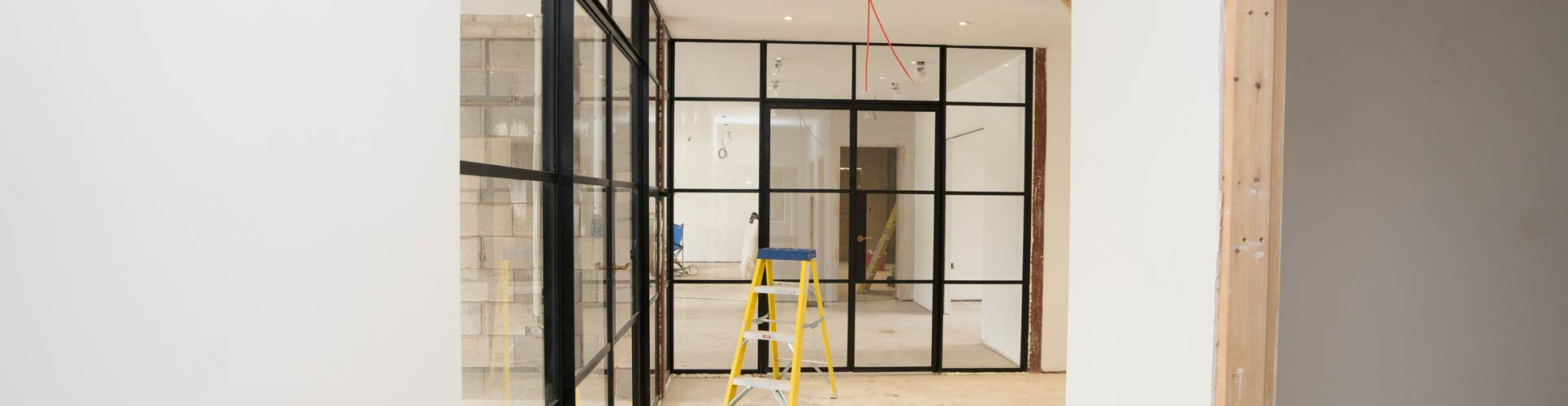 Crittall internal screen installed for one of our clients, finished in black.