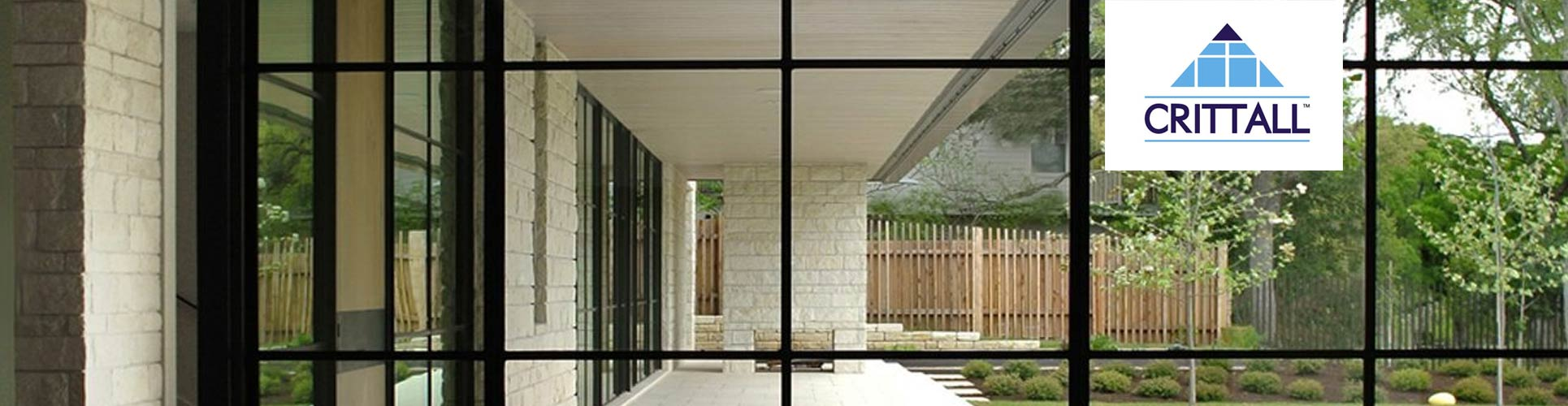 Crittall steel screen installed in a stunning property with a modern design.