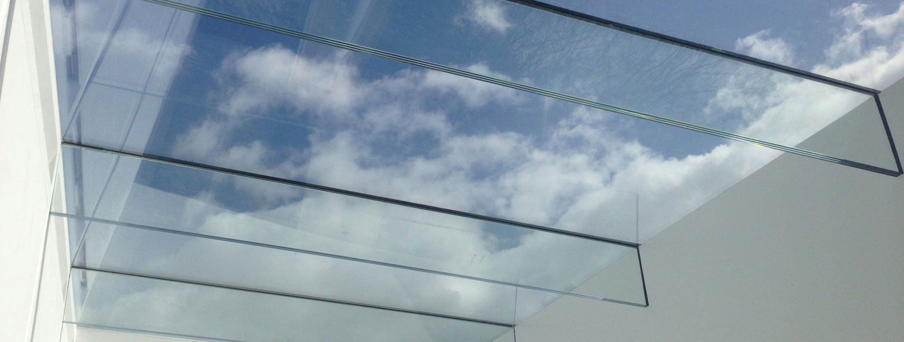 Ultra modern all glass roof lantern enabling larger openings than ever before.