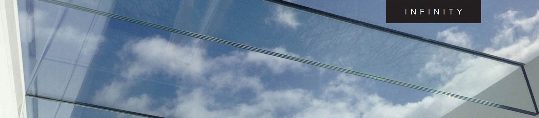 INFINITY - the ultimate all glass flat roof light.
