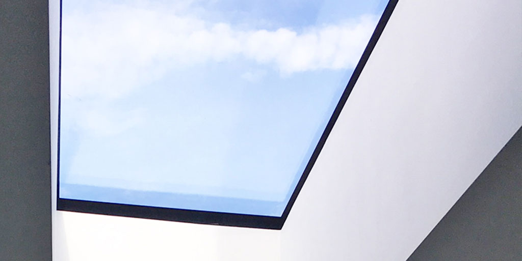 Walk on rooflight banner.