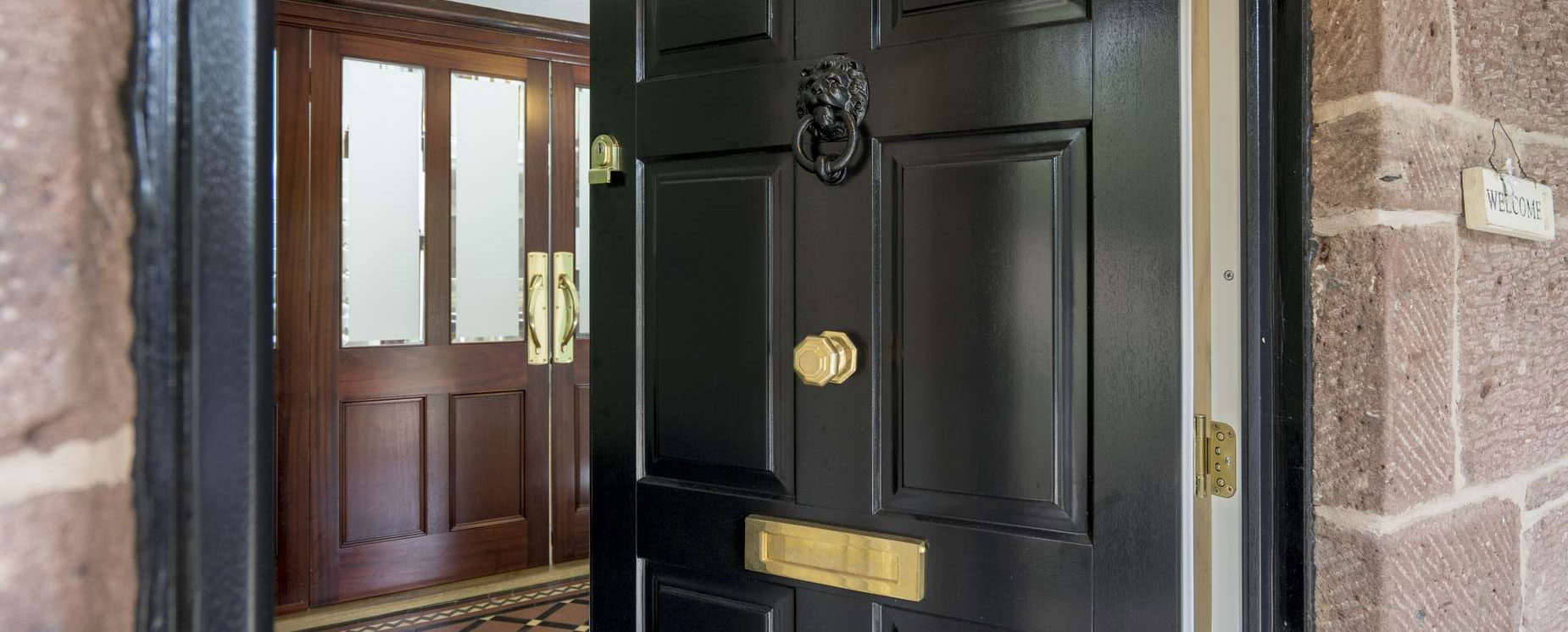 Black Traditional Timber Entrance Door, Wirral