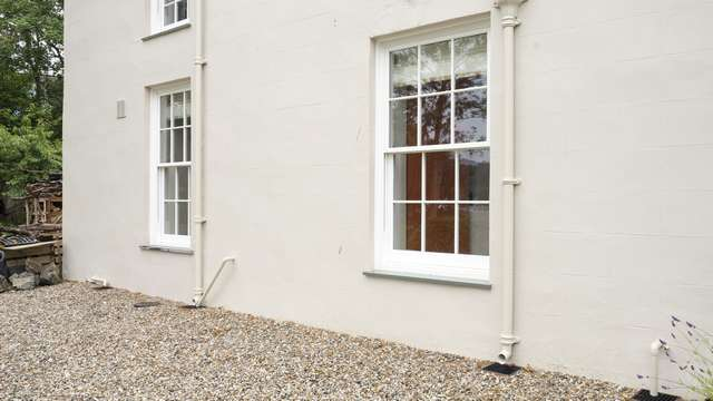 Another angle of this sliding sash window installation.