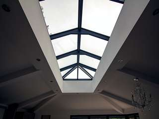 Internal shot of the aluminuium roof lantern.