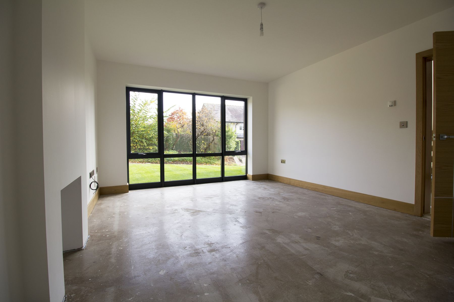 Floor to ceiling window excellent bamboo flooring white for Floor to ceiling windows