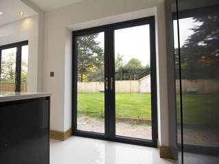 Centor french doors opening onto the garden.