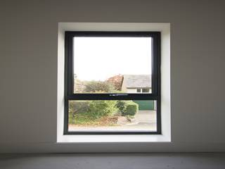 Standard aluminium triple glazed bedroom window.