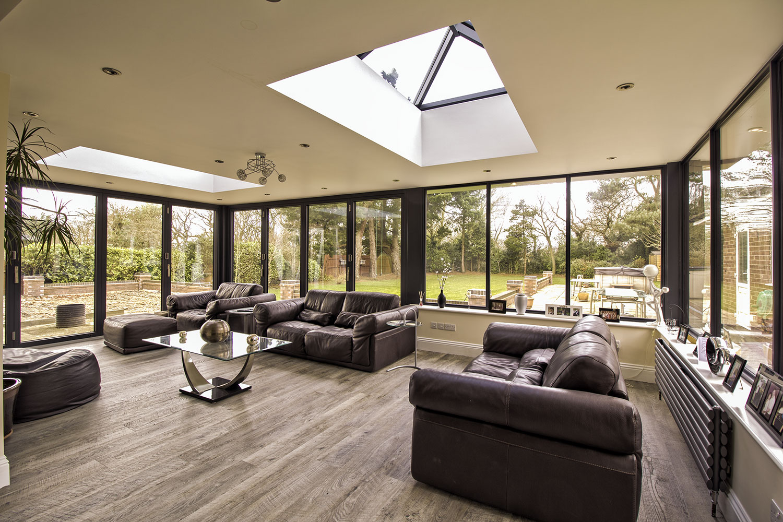 Aluminium orangery wirral john knight glass for Garden room windows
