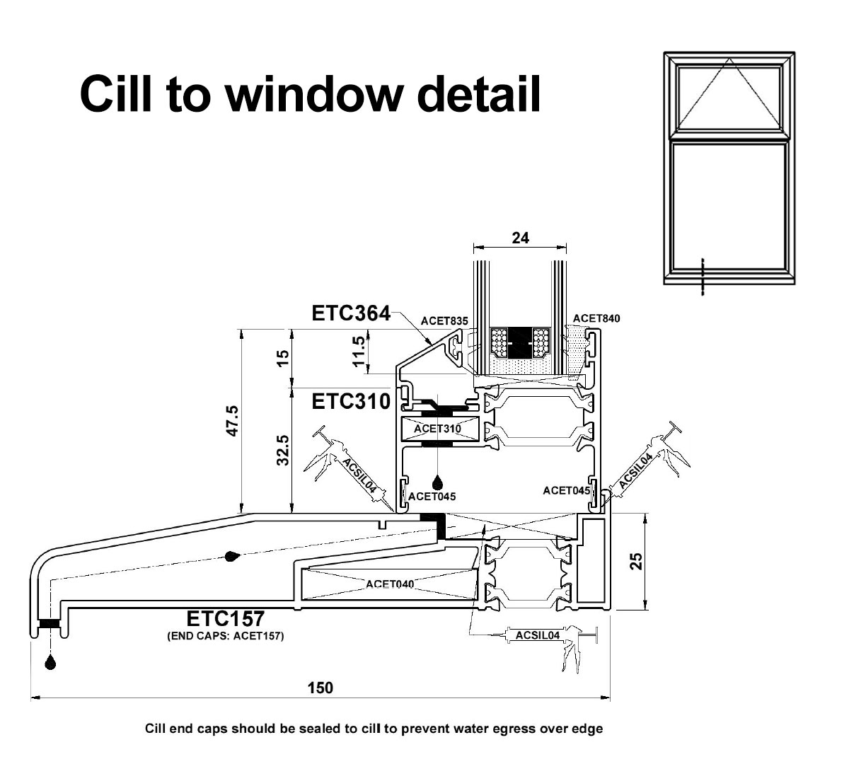 Essential aluminium window range john knight glass please browse through the image gallery to view some of the window profiles and cross sectional drawings from the allstyle range thecheapjerseys Image collections