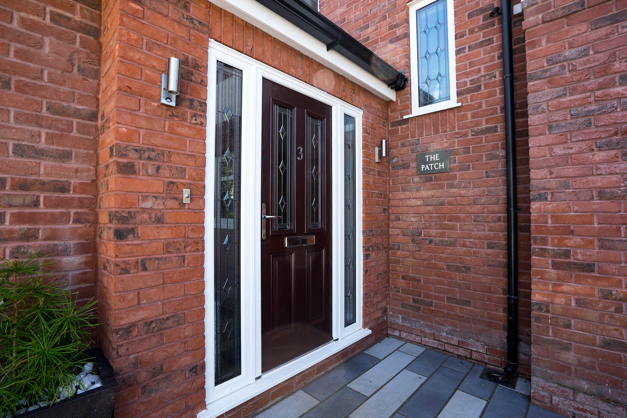 Composite entrance door supplied and fitted to this new proch extension in Wirral. & Aluminium Doors Wirral | John Knight Glass