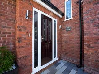 Composite entrance door supplied and fitted to this new proch extension in Wirral.