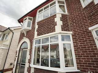 Front view of house on the Wirral, fitted with three brand new bay windows.