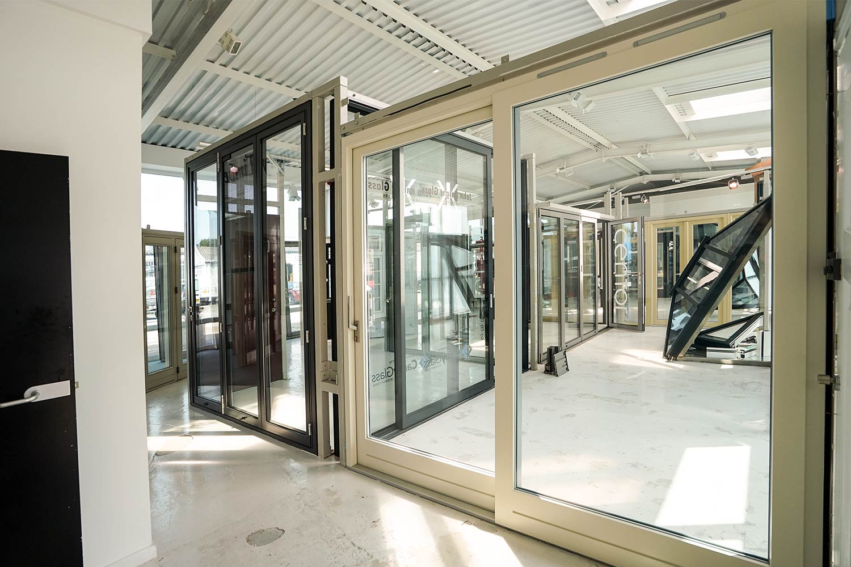 1000 #7C6E4F Aluminium Clad Doors John Knight Glass save image Clad Doors 47571500