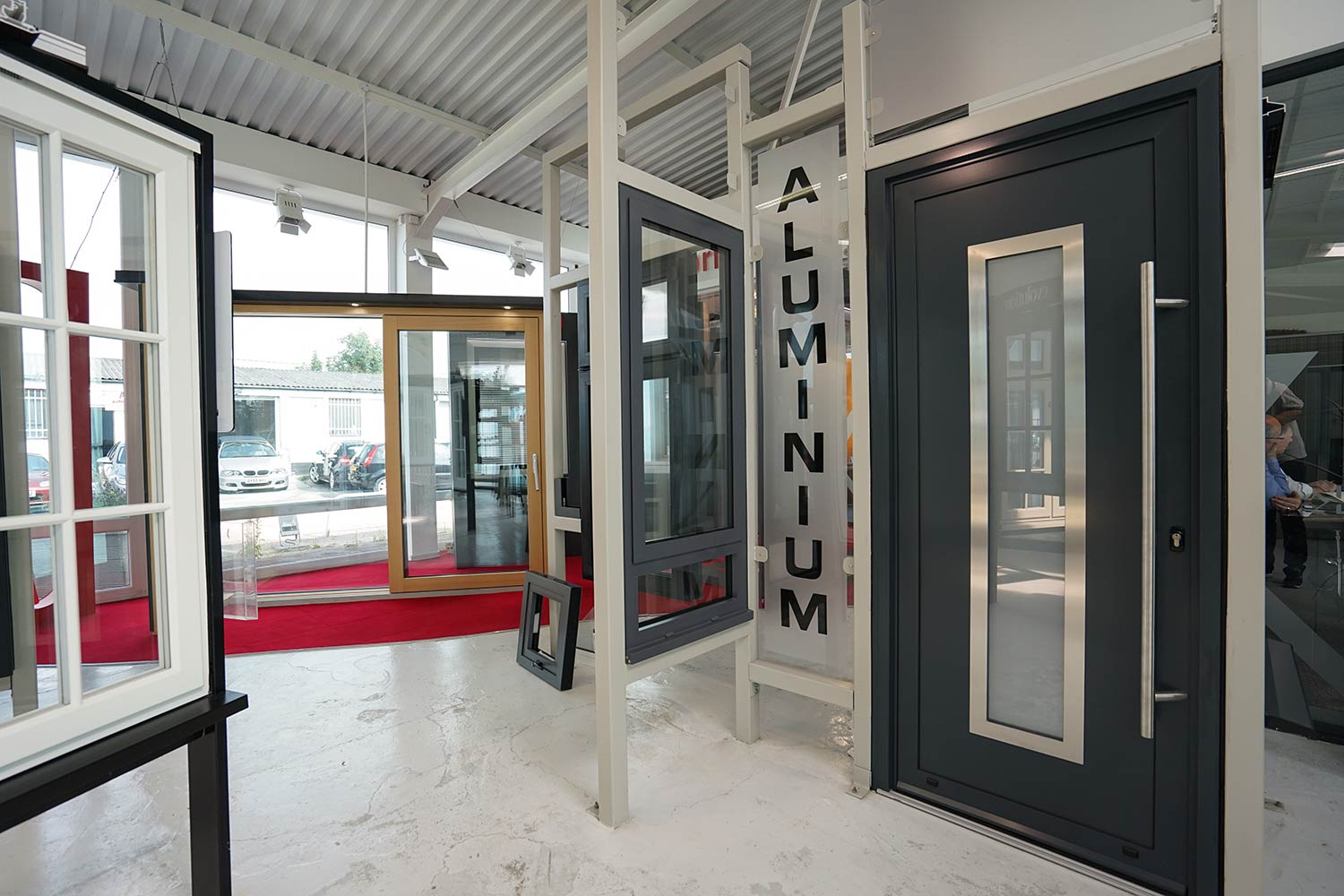 Aluminium doors john knight glass nw uk for Oversized exterior doors for sale