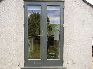 Rear Rationel alu-clad french doors.