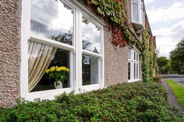 Alternative view of dual sliding sash windows.
