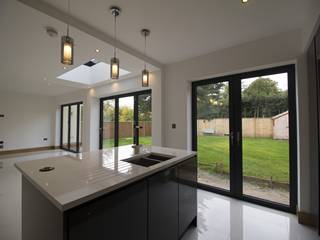 Anthractie grey aluminium bifold doors.
