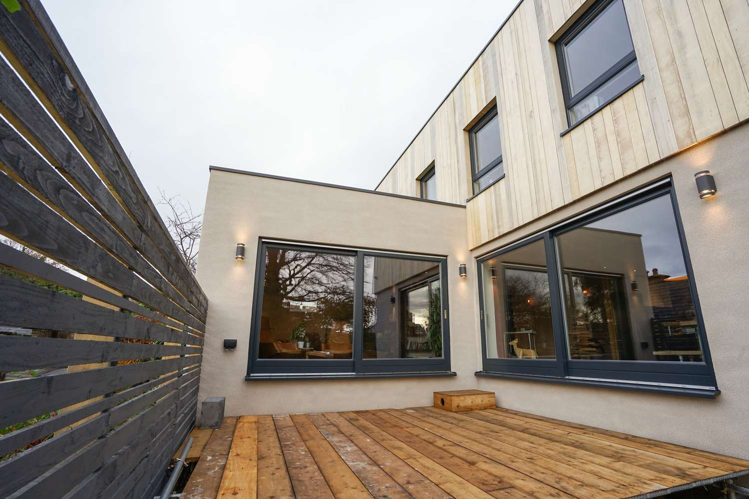 Rear Entertaining Areas With Dual Rationel Alu Clad Timber Sliding Door Supplied And Fitted In West Kirby Wirral