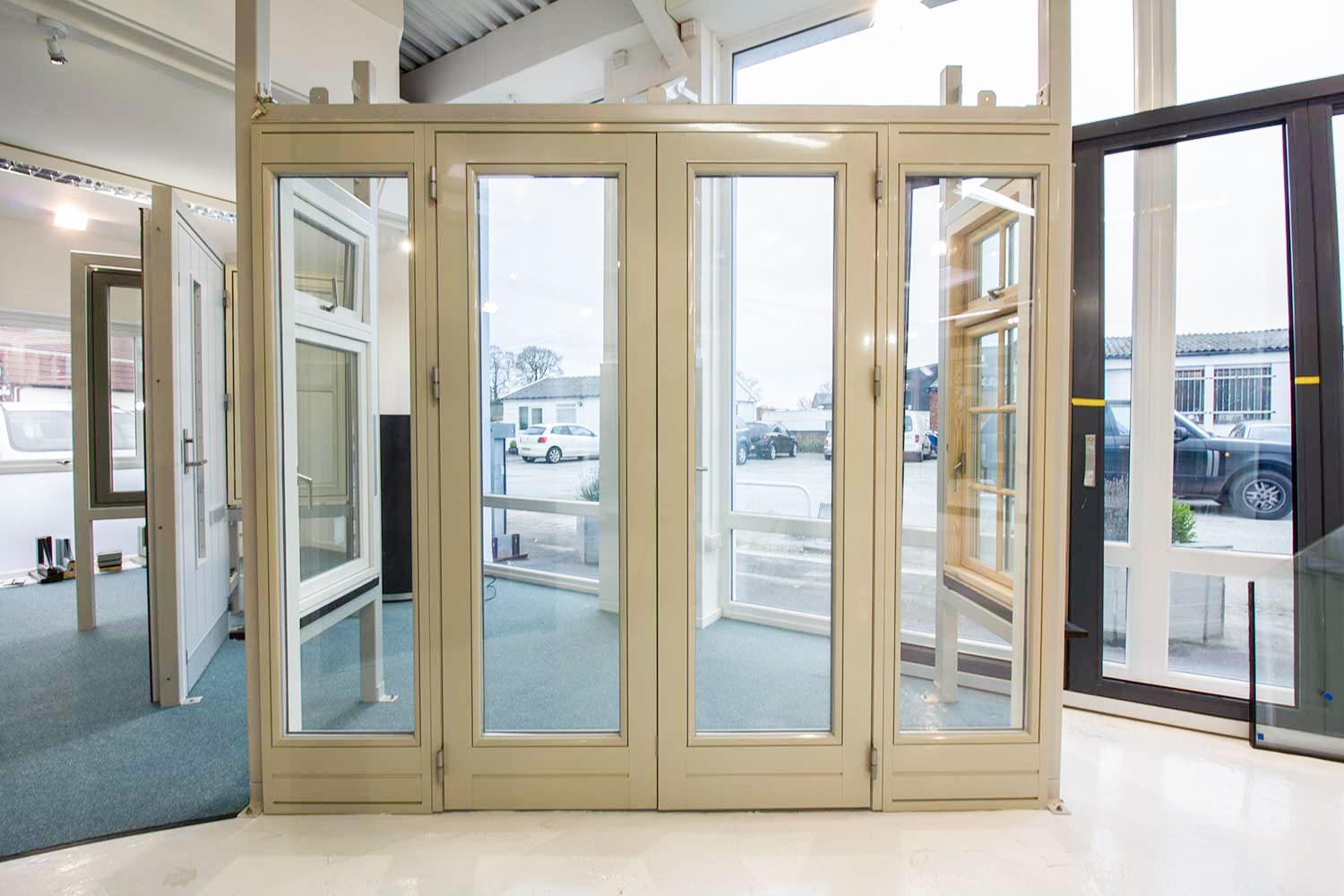 Rationel alu clad french door on display in our heswall showroom