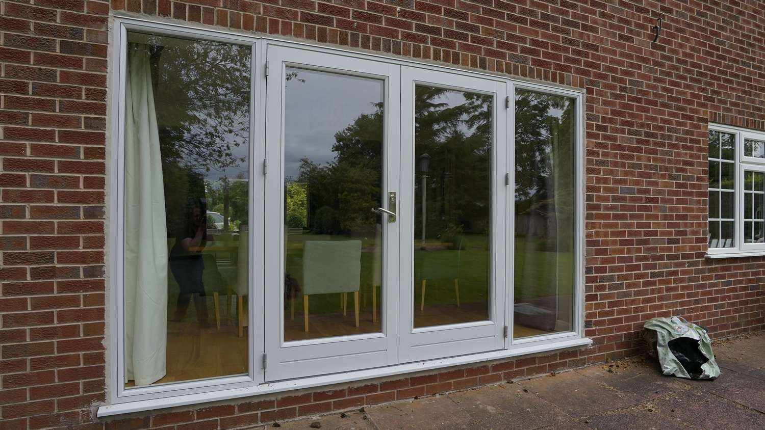 Showcase photo gallery of projects john knight glass close up of rationel alu clad french doors with side lights rubansaba