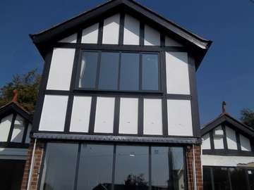 Installtion in lower Heswall wirral. Proving Alumnium windows can be used on an older property. The client has views over the Dee so was looking for a Marine Finish Aluminium finich.