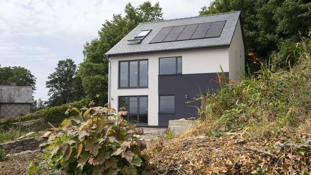 New build eco home, fitted with Rationel windows and Centor bifold doors with triple glazing for added energy efficiency.