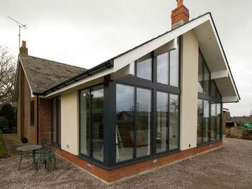 External shot of the completed extension awaiting groundworks.