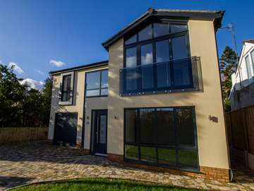 External view of full house installation featuring aluminium windows in Heswall, Wirral.