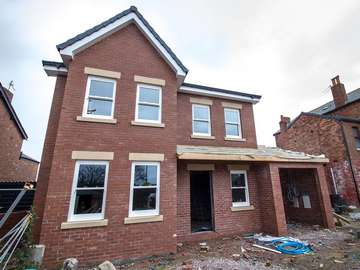 Full view of new build in Formby, Liverpool.