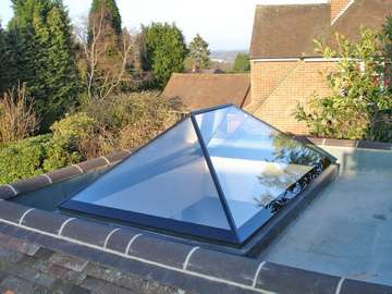 Roof maker all glass roof lantern.