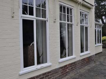 Duration windows installed in Heswall to integrate with the style of the property. Double glazed aluminium windows to give the look and thermal efficiency of a high quality window.