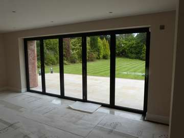 Internal view of our cEntor C1 Bi fold door. Kitchen area . see external photos