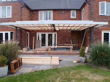 MR & MRS M. - CALDY ,WIRRAL. Design and biuld project : roof construction