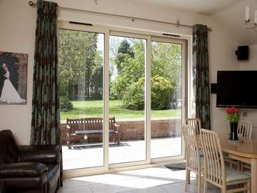 Malpas Cheshire West : Installation of a 3 door - two sliding Allstyle Sliding Patio door in the closed position