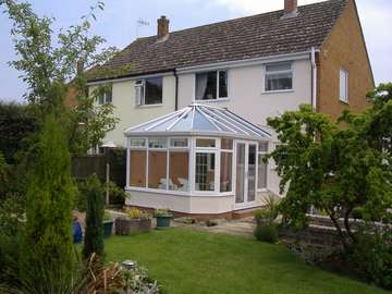 Miss G : Moreton Wirral : Design and Build 2800 white PvcU Conservatory with a 35mm 5 ply poycarbanate roof